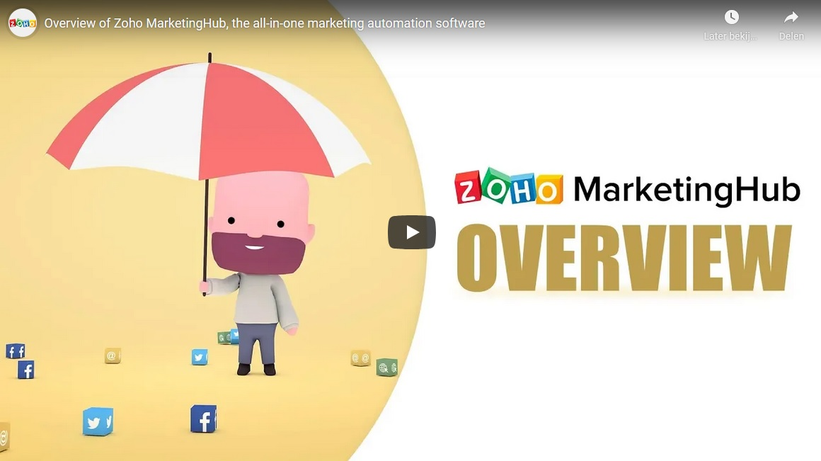 Zoho Marketing Hub video background
